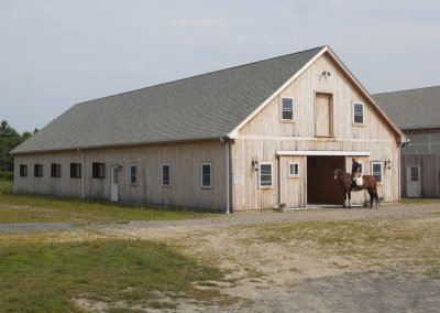 Shiplap Siding on Horse Barn